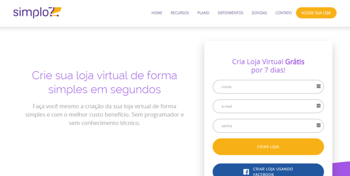 39be86ea9 Melhor site para criar loja virtual  Monte fácil você mesmo!