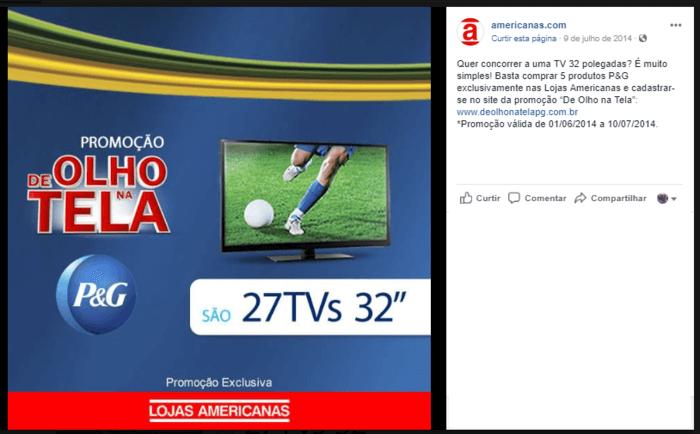 promoção no facebook