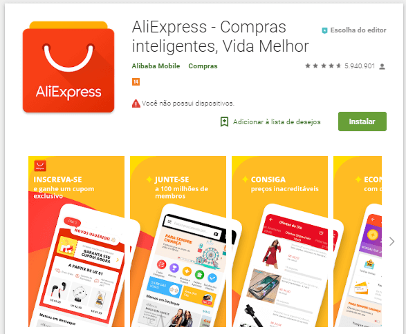 f0315a699 aplicativo para celular aliexpress portugues no google play (AliExpress App)