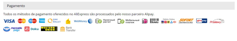 pagamento aliexpress