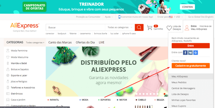 0bfef1d96 Sites de compras internacionais que entregam no Brasil  2019