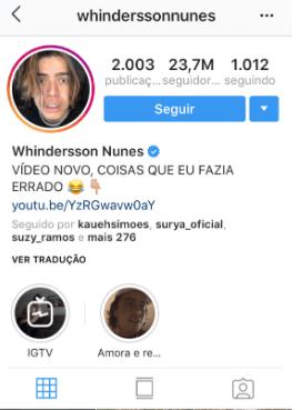 Biografia Whinderson Nunes
